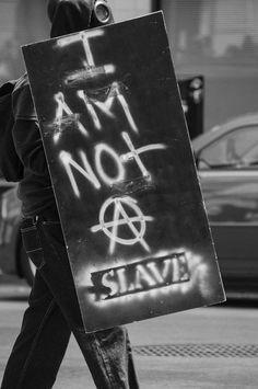 I am not a slave - anarchy. V Pour Vendetta, Estilo Punk Rock, Arte Punk, Urbane Kunst, Punks Not Dead, Post Apocalypse, Punk Goth, Writing Inspiration, Cool Stuff