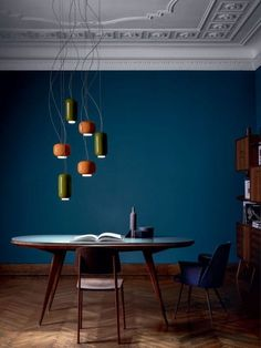 Living Room Paint Colora With Accent Wall Apartment Therapy 41 Trendy Ideas Dark Blue Rooms, Dark Blue Walls, Interior Design Minimalist, Simple Interior, Interior Ideas, House Paint Interior, Interior Design Living Room, Interior Designing, Living Room Paint