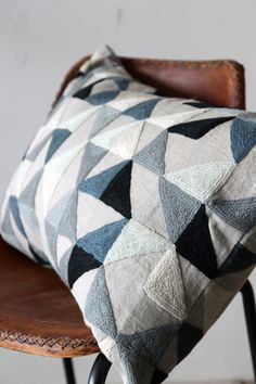 Cool texture :: Harlequin Geometric Cushion by Niki Jones - Grey Tones