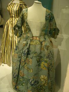 Big ole calico print, I bet. ~19th century dress  by Princess Pipey, via Flickr