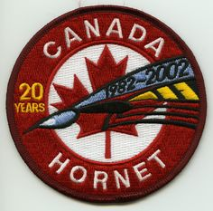CF-18 Demo (2002) - Hornet 20th Anniversary - Hornet Hornet, 20th Anniversary, Patches, Military, 20th Birthday, 20 Year Anniversary, Military Man, Army