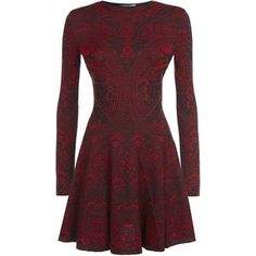 Alexander McQueen Lace Jacquard Long Sleeve Dress