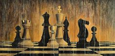 """Original oil painting on stretched canvasMixed technique palette knife and brushesSize: 160 X 80 cmInspired by the """"Chess"""" - Russell Brennan Watercolor Mixing, Art Of Beauty, Sci Fi Art, Vintage Paper, Chess, Fine Art Photography, Fine Art America, Oil On Canvas, Art Pieces"""