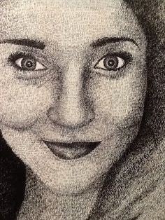Text Portraits utilizes the students ability to render value through the application of the written word. Students love this project not only because it's FUN, but because they get to infuse their thoughts and ambitions into the piece.