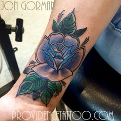 purple flower tattoo by jon gorman at providence tattoo  #jongorman #providencetattoo #flower #tattoo #purpleflower #tattooideas #tattooartists