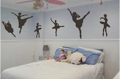 Ballerinas Dancing Wall Decal Pack - Nursery and Kids Room Vinyl Wall Decals Stickers Quotes on Etsy, $17.50