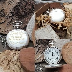 cbf33c4995dcb PW Father of the Bride Engraved Pocket Watch Gift Pocket Watch Gift Thank  You For Raising