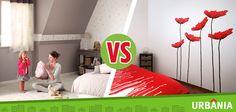 ¿Prefieres decorar las paredes de tu hogar con vinilos o cenefas de papel? #UrbaniaVS