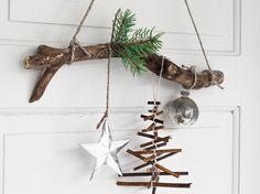 Sapin de Noël en bois rustique en 35 alternatives au sapin traditionnel