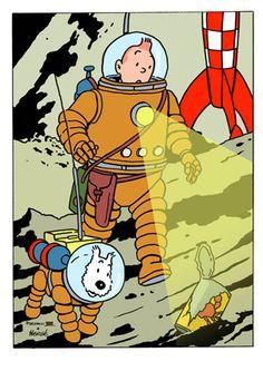 Månen tur retur - Tintin • tintin, Herge j'aime