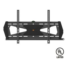 """QualGear® QG-TM-031-BLK UL Listed Heavy Duty Tilting TV Wall Mount for most 37""""-70 Flat Panel and Curved TVs, Black"""
