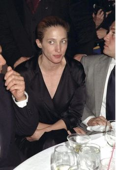 "Photo: UNITED STATES - MAY 06:  Carolyn Bessette Kennedy at the Supper Club for the party following the performance of the Parsons Dance Company's premiere of composer Shelly Palmer's ""Anthem.""  (Photo by Richard Corkery/NY Daily News Archive via Getty Images)"