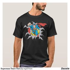 Superman T Shirt, Superman Logo, Superhero Gifts, Tshirt Colors, Cool T Shirts, Dc Comics, Fitness Models, Shirt Designs, Casual