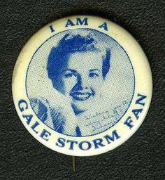 Antique Gale Storm Fan Button