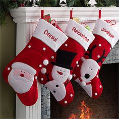 Red Velvet Personalized Snowflake Christmas Stockings - Christmas ...
