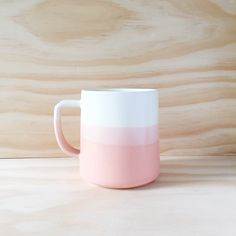 The Danish Mug in Peach White Made to order door paperandclaystudio