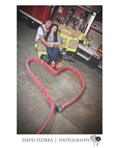 Fire Department Engagement Session: {My Heart is Yours!} Follow my work at: https://www.facebook.com/DaysiFloreaphotography