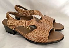 724dd5a67ed3 SAS Shoes Womens Suntimer Sandals Beige Croc Size 9 Adjustable Strap