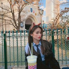 Image may contain: 1 person, tree and outdoor Ulzzang Korean Girl, Cute Korean Girl, Ulzzang Fashion, Aesthetic Girl, Girl Photos, Couple Goals, Instagram Feed, Girly, Poses