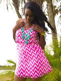 Pretty in Pink Summer Zig Zag Dress #Pin2Win by July 1st! See our contests board for details! xx