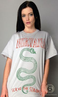Nirvana Serve the Servents T-Shirt - http://www.cheaptshirts.biz/nirvana-serve-the-servents-t-shirt/ Nirvana Serve the Servents T-Shirt  As a self appointed judges judge, I rule this t-shirt to be awesome.   Mens medium is on back order. Estimated ship date is 5/18/12.  • Professionally printed silkscreen  • High-quality, 100% cotton tee  • Ships within 2 business days   List Price:   Price: 15.95     Nautica Men's Solid Pocket T-Shirt, Navy, LargeSolid pocket c