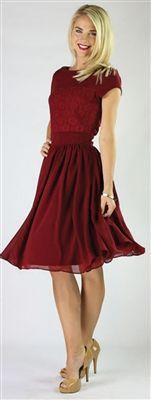 modest red dress teen - Google Search