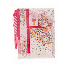 Ice Cream Sprinkles Notebook Set