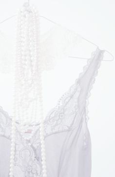 Winter White Lace & Pearls .