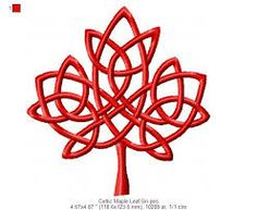 Maple Leaf Irish Knot