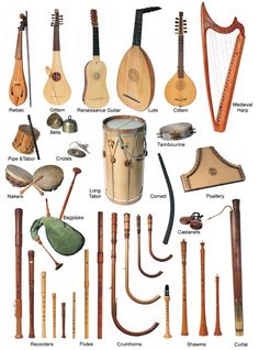 Renaissance Instruments In the 15-16C, instruments underwent major technical improvement over their medieval forebears, and they were increasingly played by skilled amateurs in public events. Composers began writing pieces for instruments alone, not just as accompaniment to vocal performance.