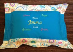 A personal favorite from my Etsy shop https://www.etsy.com/listing/151550892/family-love-pillow-custom-handmade