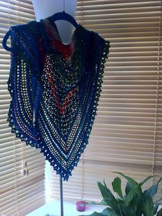 crochet shawl for leftover yarn