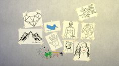 High School Art Sketches (9 stickers) DownloadMade with Sims 4 Studio(Paint splatter here)