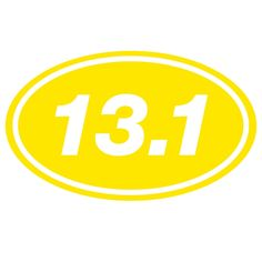 13.1 Oval Running Decal...This has been my motivation for 9 months now. First half in 7 weeks!
