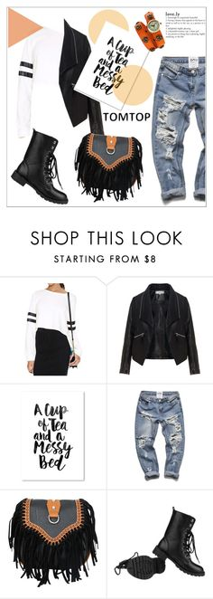 """""""TOMTOP+ 23"""" by deeyanago ❤ liked on Polyvore featuring mode, Zizzi, Americanflat, vintage, women's clothing, women, female, woman, misses et juniors"""