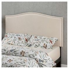 Zinus Colfax Upholstered Nailhead Headboard - Full/Queen - Taupe - Sleep Revolution