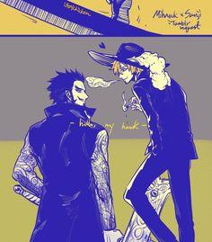 One Piece, Sanji, Mihawk