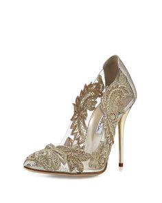 New Year's musts - Oscar de la Renta Aylissa Crystal-Embellished Pump #phihunting