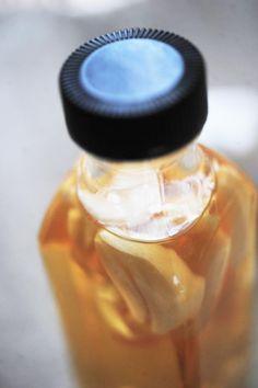 Flu Fighting Rice Vinegar and Garlic Tonic
