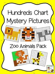 Ocean Animals Hundreds Chart Mystery Pictures 100 Chart, Hundreds Chart, Charts, Number Puzzles, Simple Pictures, Activity Sheets, Number Sense, Zoo Animals, Math Activities