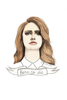 Lana Del Rey ''Born to die'' watercolour portrait by ohgoshCindy from Oh gosh, Cindy!