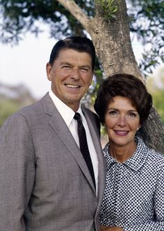President Reagan and Mrs. Reagan in this striking 1970s photo