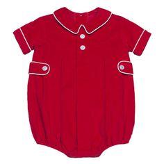 bb86b20acf4 Little English Boys Red Corduroy Davant Bubble from Madison-Drake  Children s Boutique