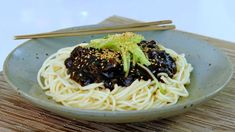 Noodles with Black Bean Sauce Easy Chinese Recipes, Asian Recipes, Ethnic Recipes, Asian Foods, Korean Black Bean Noodles, Black Bean Sauce Recipe, Cooking Channel Shows, Ginger Pork, Beef Salad