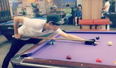 """"""" 140908 Chanyeol's sister facebook update: Celebrated Chuseok by playing pool♡.♡ it's been a while since I met up with my younger brother hehe """""""