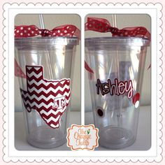 Texas A&M Tumbler / Cup with Personalization would be a great gift to your Aggie bridesmaid on your wedding day!  Follow thehowdyweddingguide on Instagran for more Aggie wedding shares!