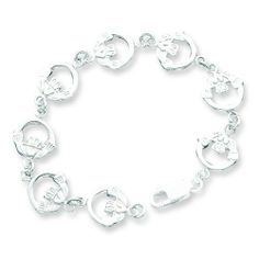 Sterling Silver Claddagh Bracelet. Metal Weight- 9.39g. 7in long Bracelet. Jewelrypot. $59.99. 100% Satisfaction Guarantee. Questions? Call 866-923-4446. Fabulous Promotions and Discounts!. All Genuine Diamonds, Gemstones, Materials, and Precious Metals. Your item will be shipped the same or next weekday!. 30 Day Money Back Guarantee. Save 61%!