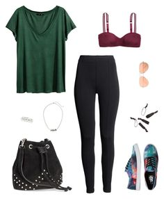 """""""#1"""" by buse-ciftlik on Polyvore featuring moda, H&M, Vans, Ray-Ban ve airportstyle"""
