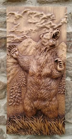 Animal tallada la decoración de la pared de salón rústico de