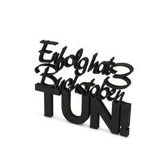 """Der 3D Schriftzug """"Erfolg hat 3 Buchstaben Tun"""" – ein ganz individuelles Geschenk für einen besonderen Menschen in Deinem Leben, ein persönliches Dekorationsstatement oder einfach ein schöner Spruch. Statements, Motivation, Montage, Wooden Signs, Decorative Items, Unique Gifts, Etsy Shop, 3d, Simple"""